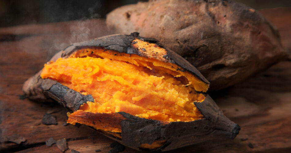 Delicious baked japanese sweet potato