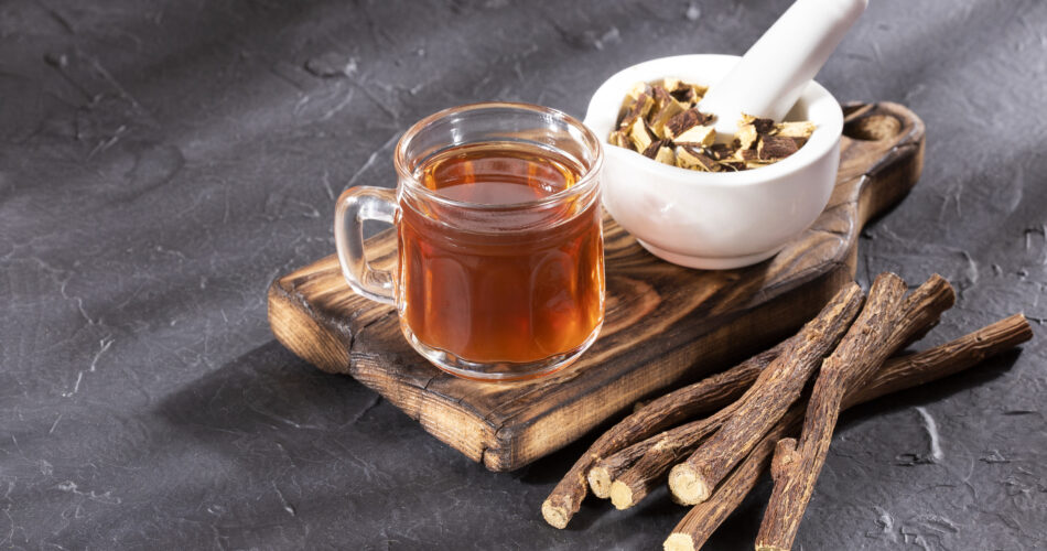 Glycyrrhiza glabra - Tea and stems of licorice