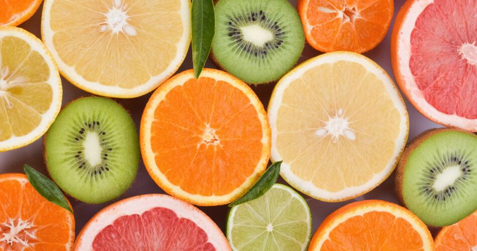 variety of juicy citrus fruits