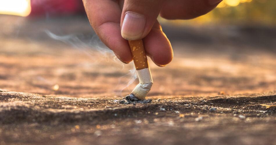 cigarette, cigarette butt on floor